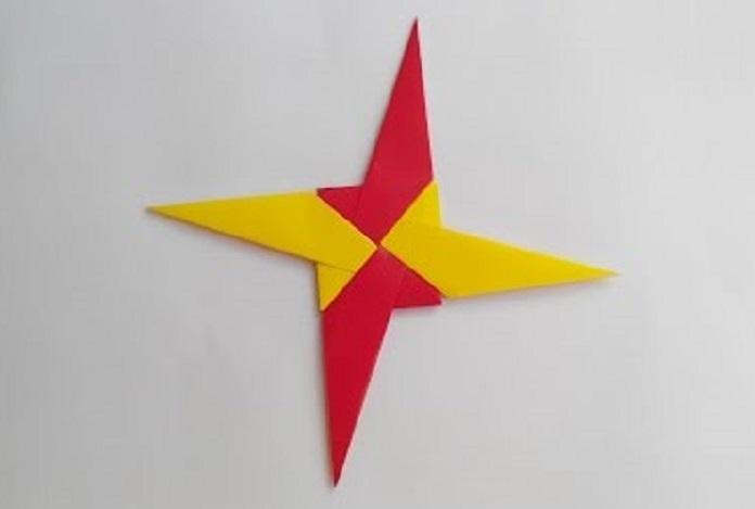 Звездочка Ниндя (Сюрикен) оригами