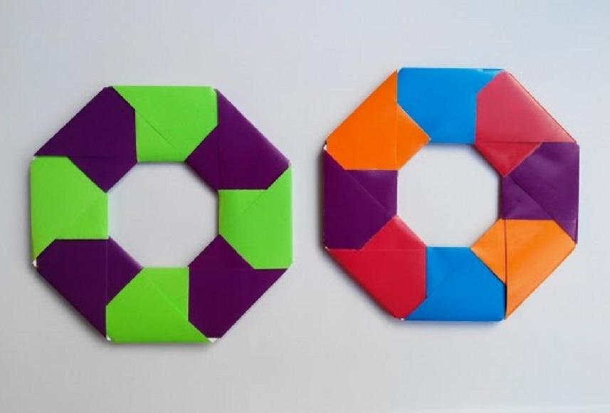 Звездочка круглая оригами
