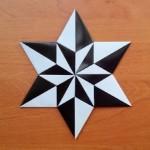 Черно белая звездочка оригами (Carmen Sprung)