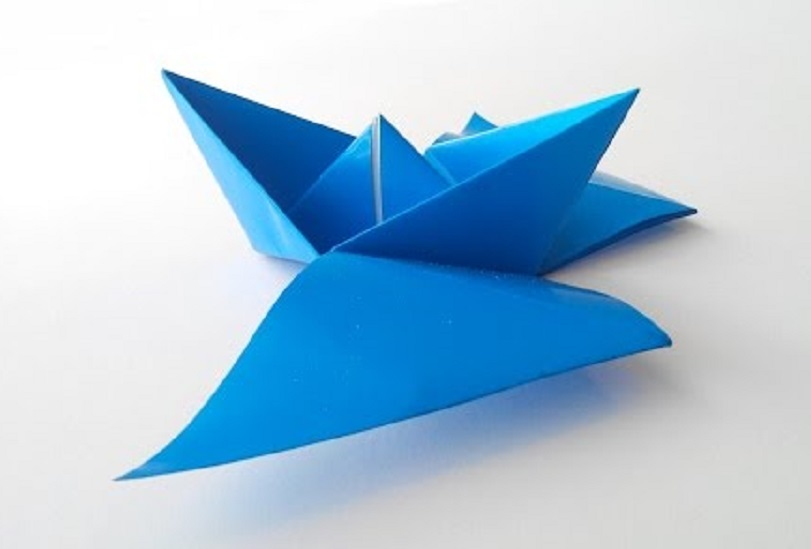Как сделать кораблик с крылышками оригами