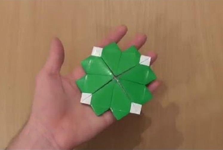 Клевер оригами
