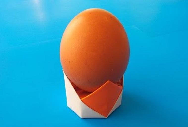 Пасхальная корзинка для яйца оригами