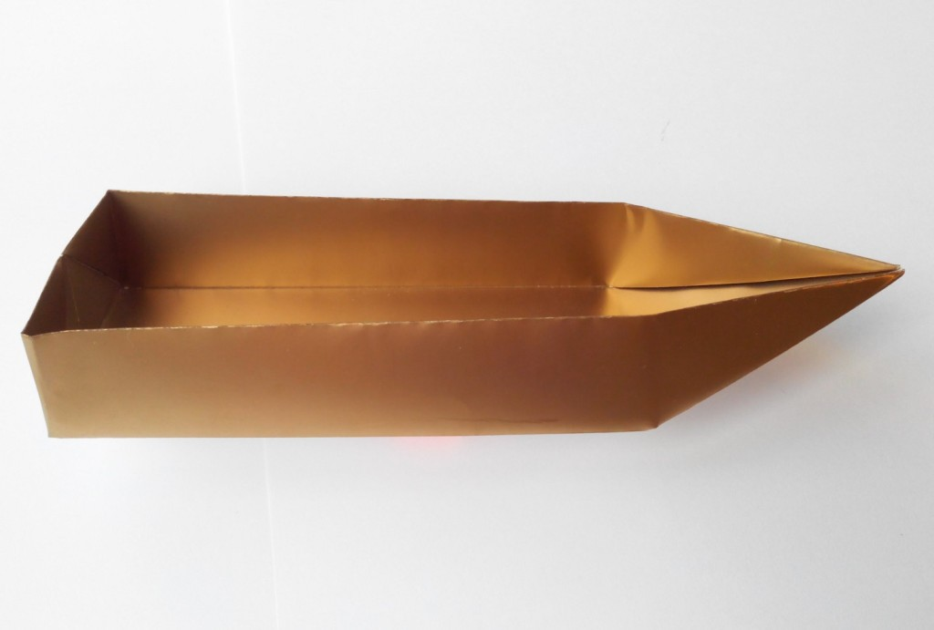 Золотая лодочка оригами