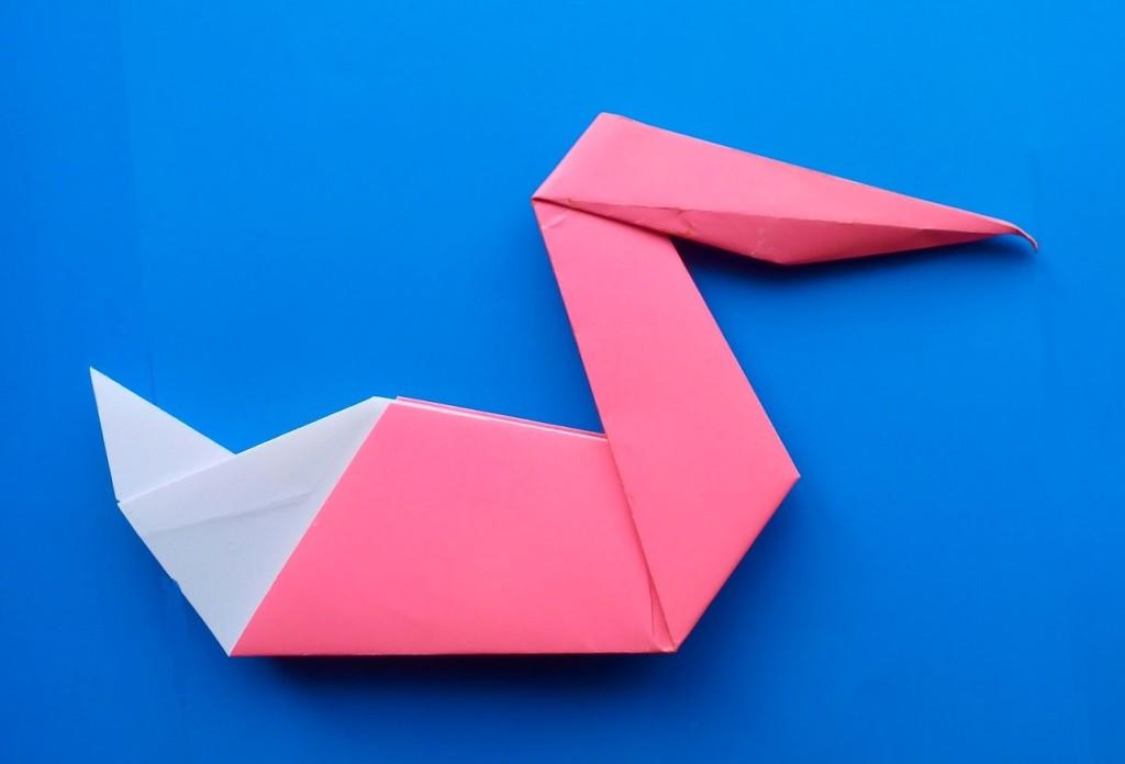 Как сделать пеликана из бумаги