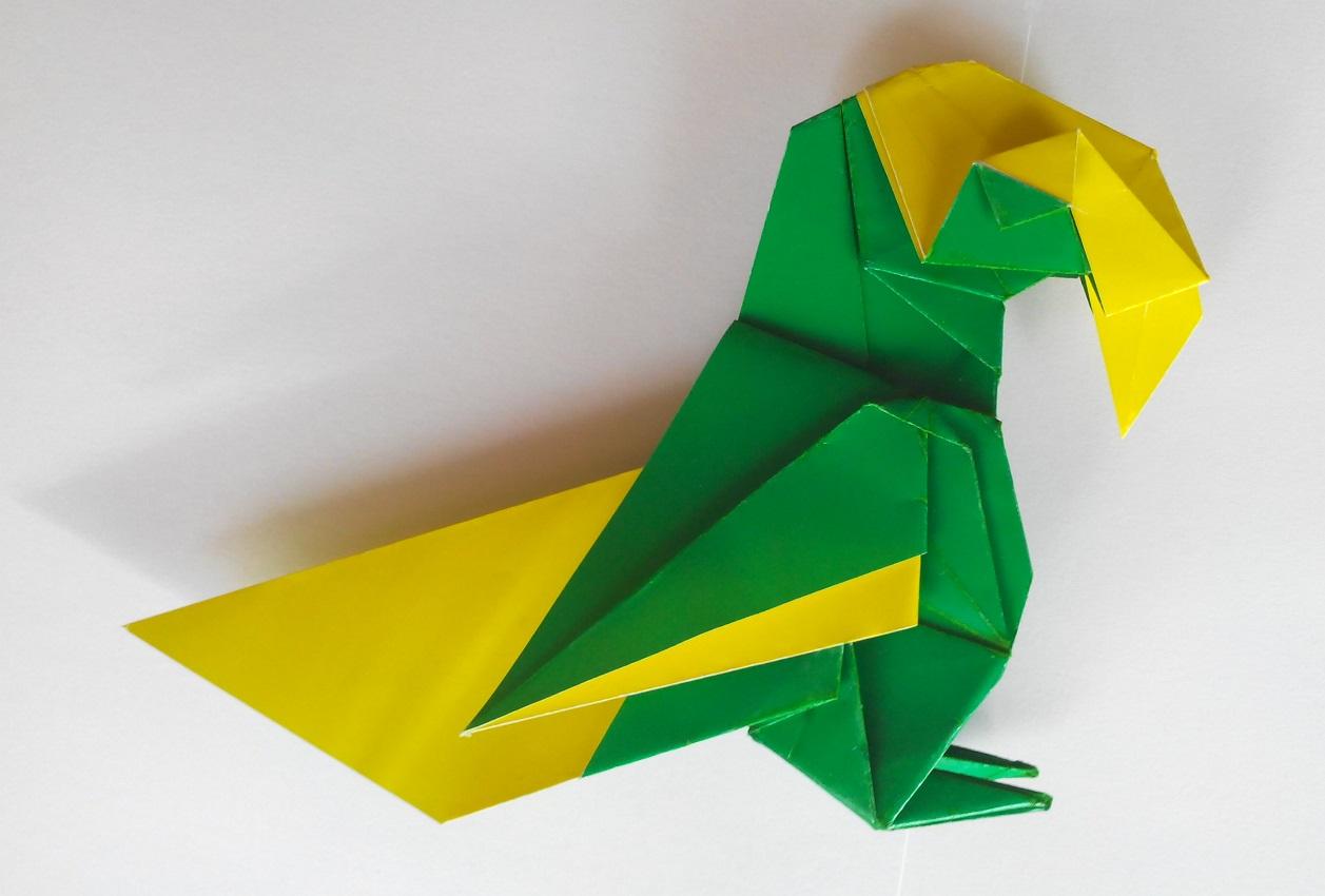 Красивый попугай оригами (Barth Dunkan)