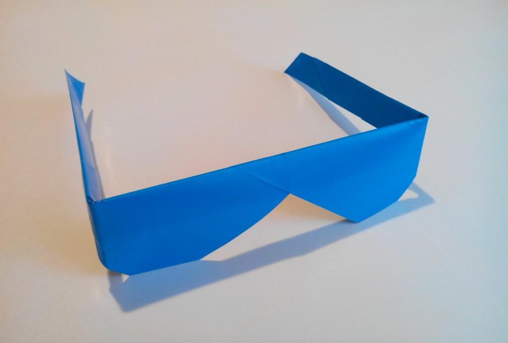 Очки из бумаги