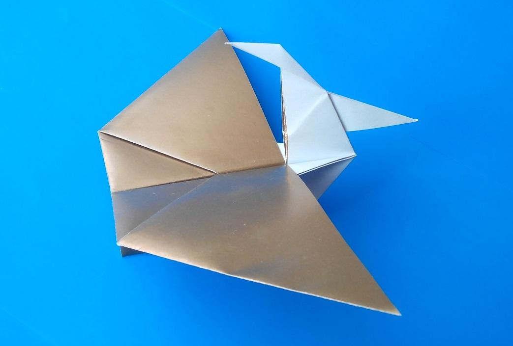 Простой птеродактиль оригами