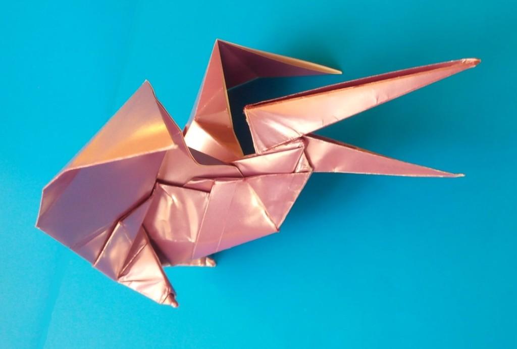 Птеродактиль ящер оригами