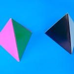 Треугольная пирамидка оригами