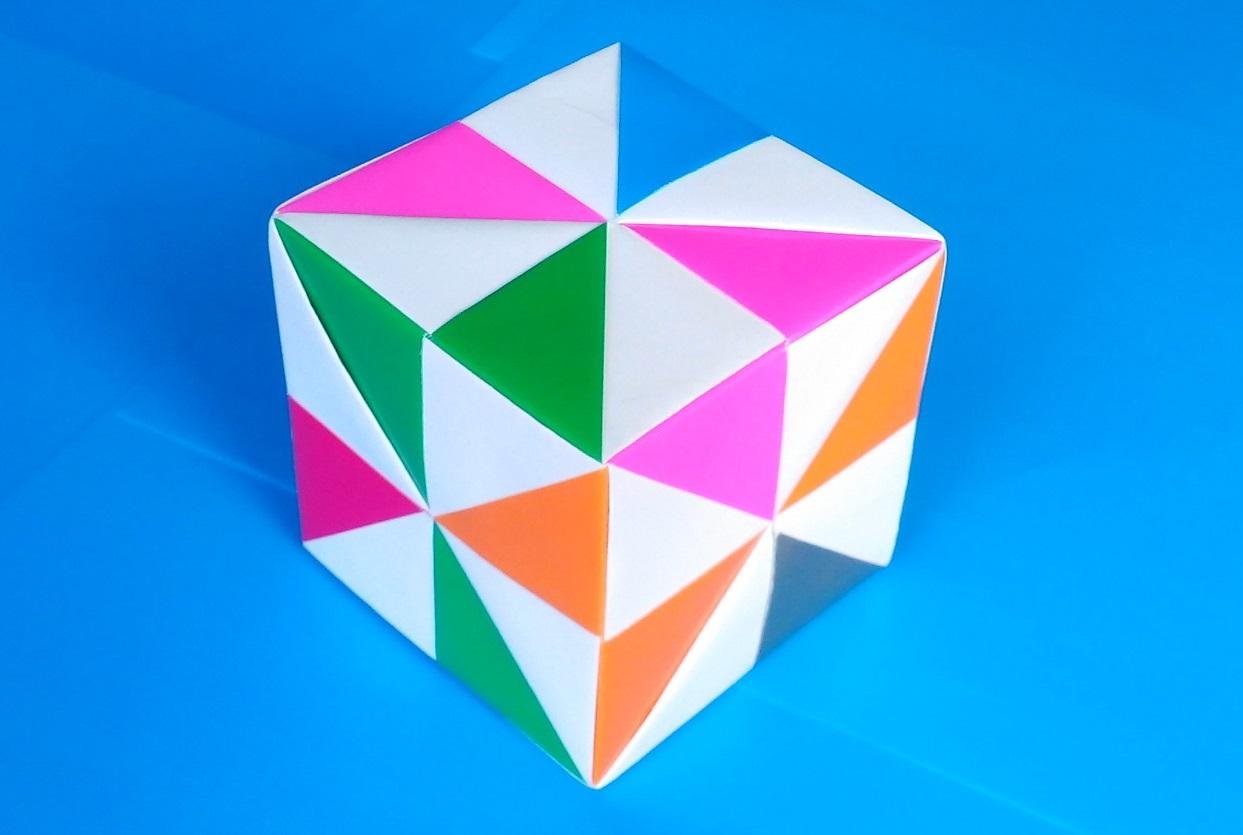 Как сделать разноцветный куб оригами