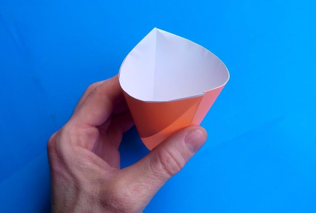 Как сделать стаканчик оригами