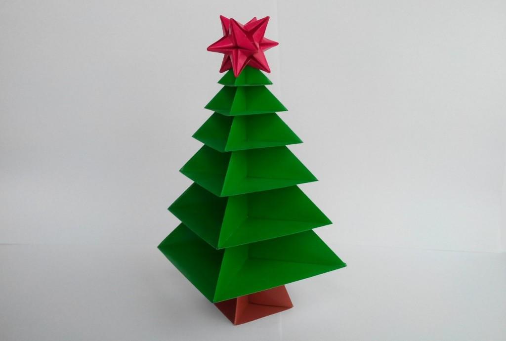 Новогодняя ёлочка оригами (Вариант 1)