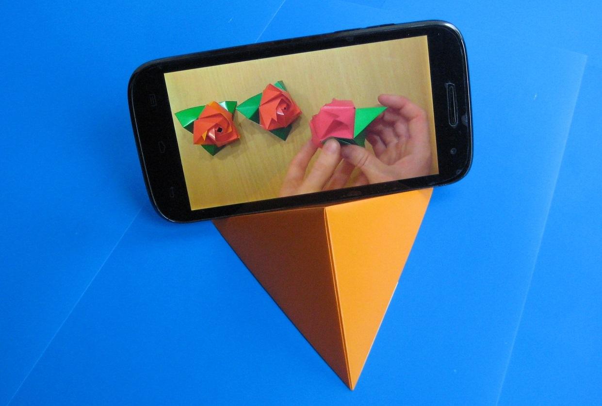 Подставка для телефона оригами