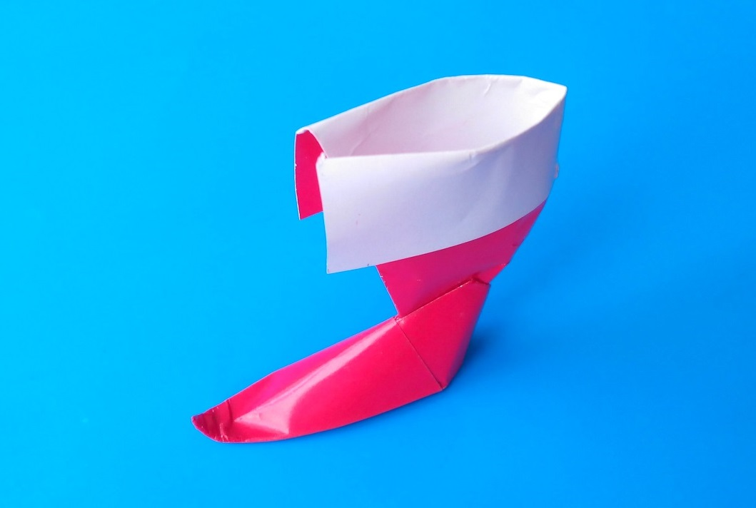 Сапожок оригами