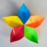Цветок сакура оригами
