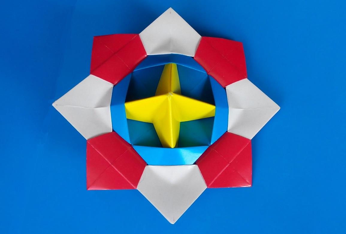 Волчок оригами