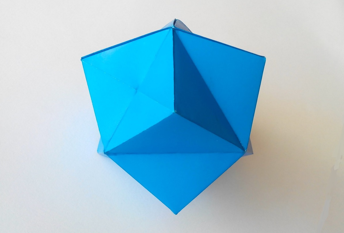 Звездчатый октаэдр оригами