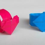 Кольцо с сердечком оригами