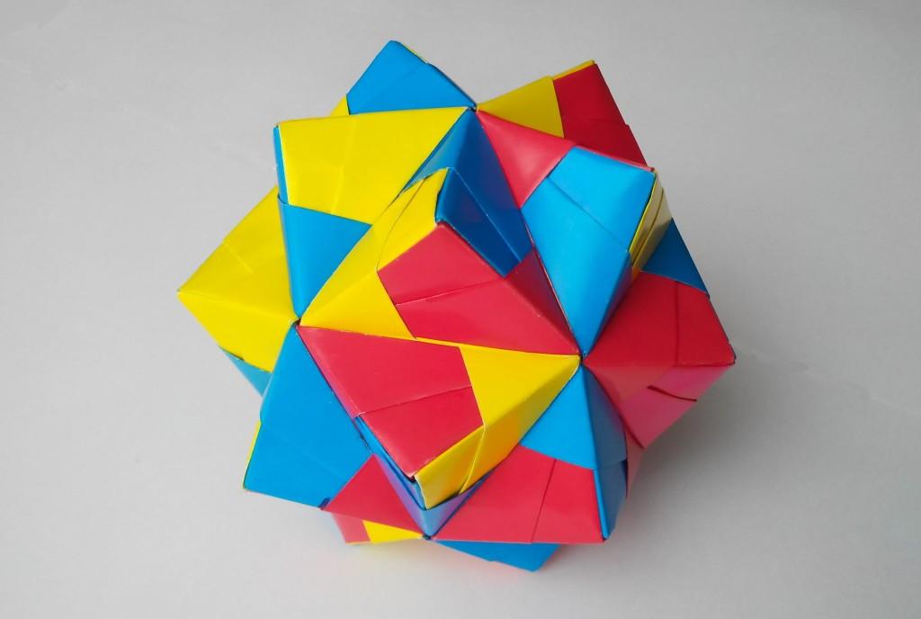 Красивая кусудама оригами (Mitsunobu Sonobe)