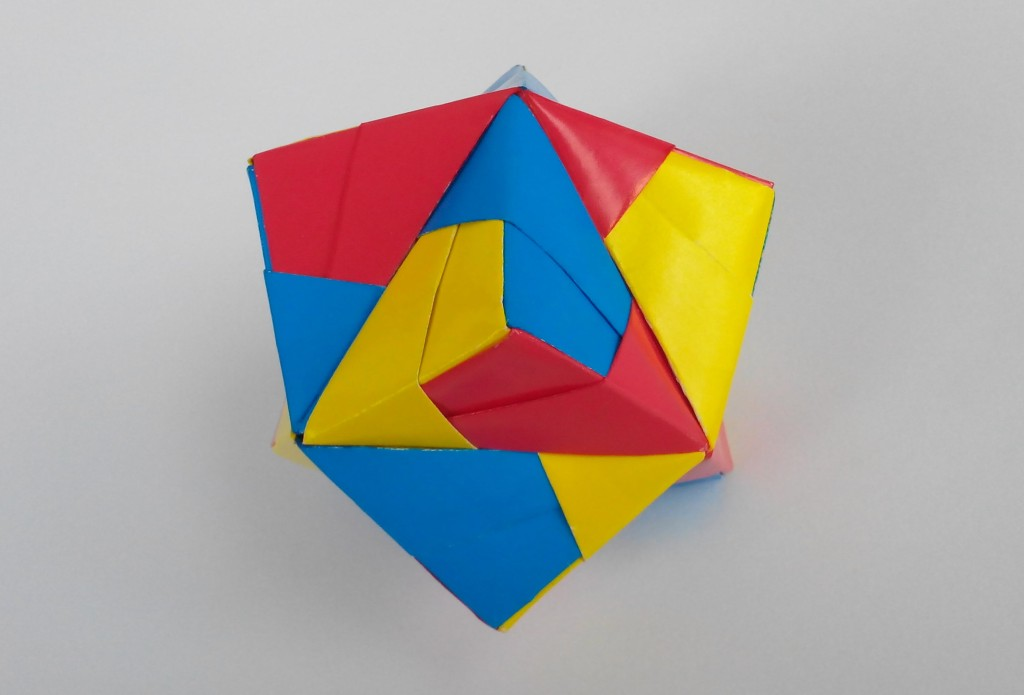 Кусудама Тетраэдр оригами (Mitsunobu Sonobe)
