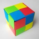 Разноцветный куб оригами (Mitsunobu Sonobe)