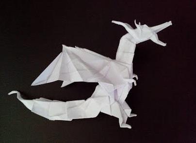 Стоячий дракон оригами (Kade Chan)