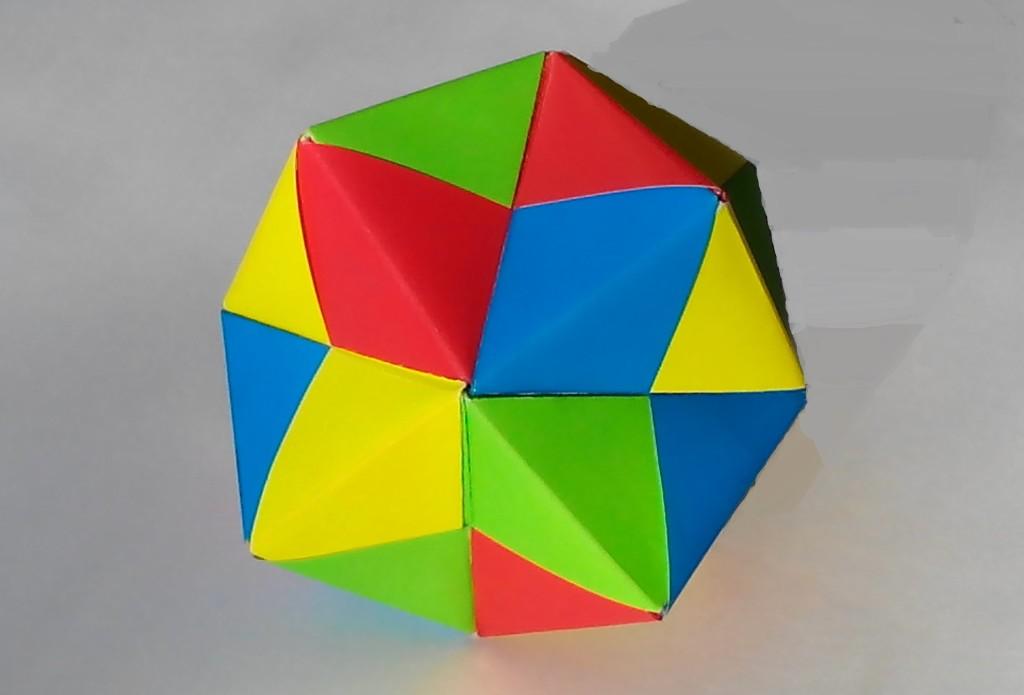 Как сделать кусудаму оригами (Mitsunobu Sonobe)
