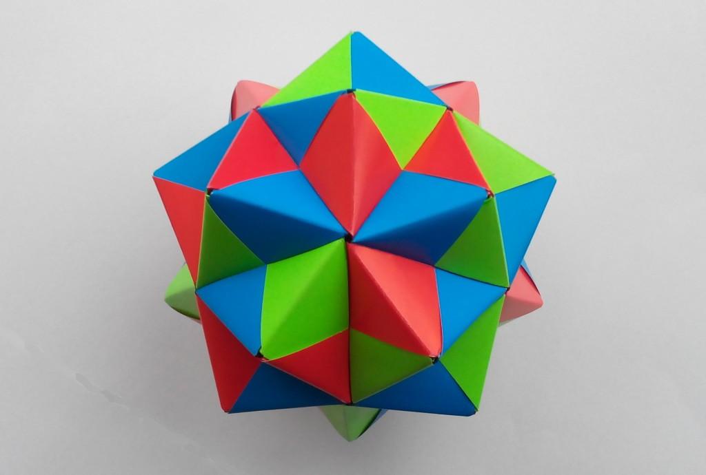 Кусудама большая оригами (Mitsunobu Sonobe)