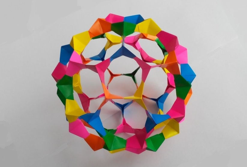 Кусудама футбольный мяч оригами