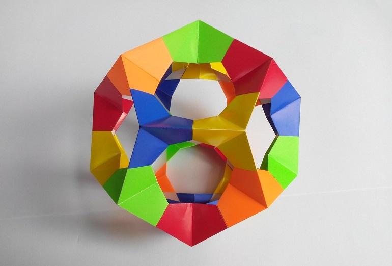 Кусудама оригами из треугольников