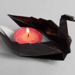Плавающий красивый лебедь оригами (Jannie van Schuylenburg)
