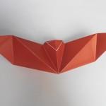 Простая летучая мышь оригами
