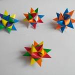Звезда рождественская оригами