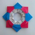 Цветочек из модулей оригами
