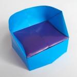 Красивое кресло оригами