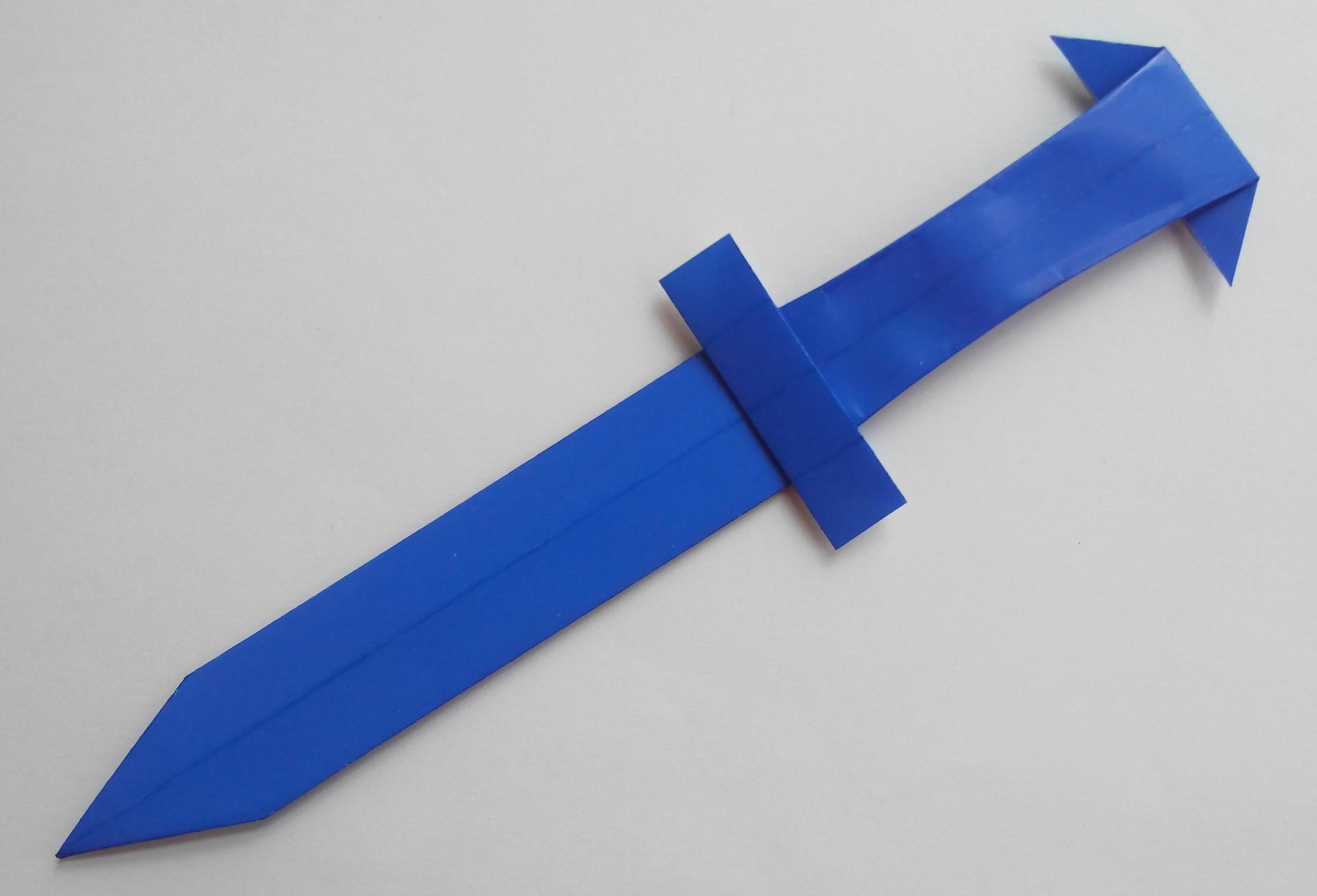 Как сделать меч оригами