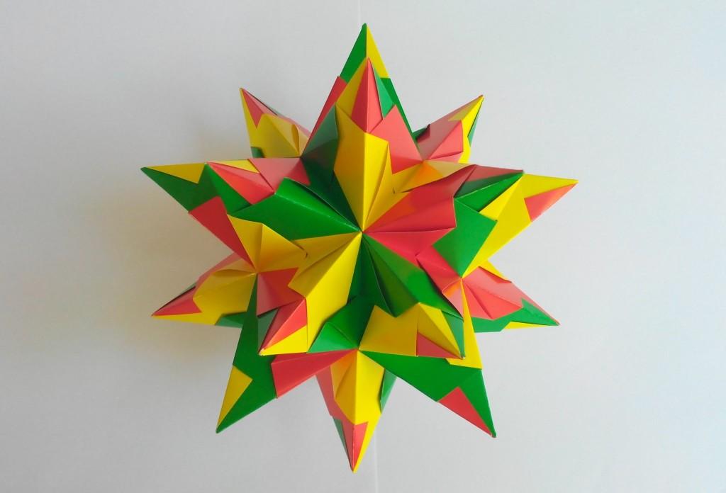 Колючая кусудама оригами