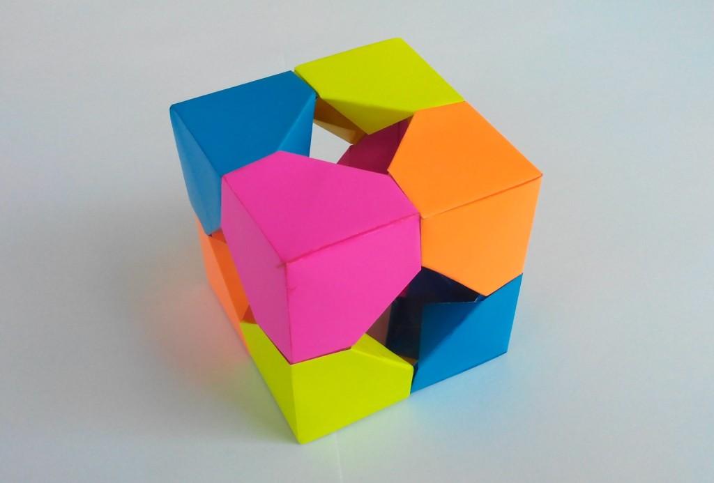 Куб с отверстиями по бокам оригами