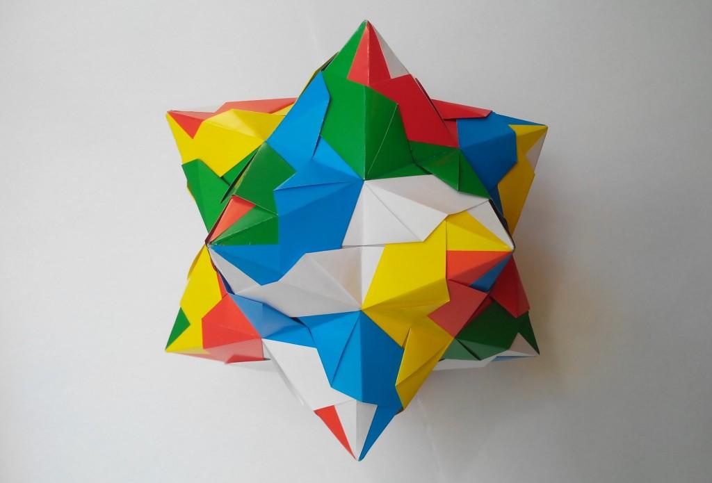 Кусудама Рождественская звезда оригами