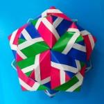 Кусудама мяч оригами (Toshiaki Hojo)