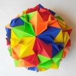Кусудама цветущая вишня мяч оригами (Tomoko Fuse)