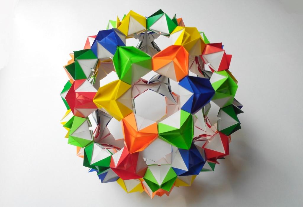 Кусудама мяч цветущая
