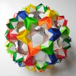 Кусудама мяч цветущая оригами