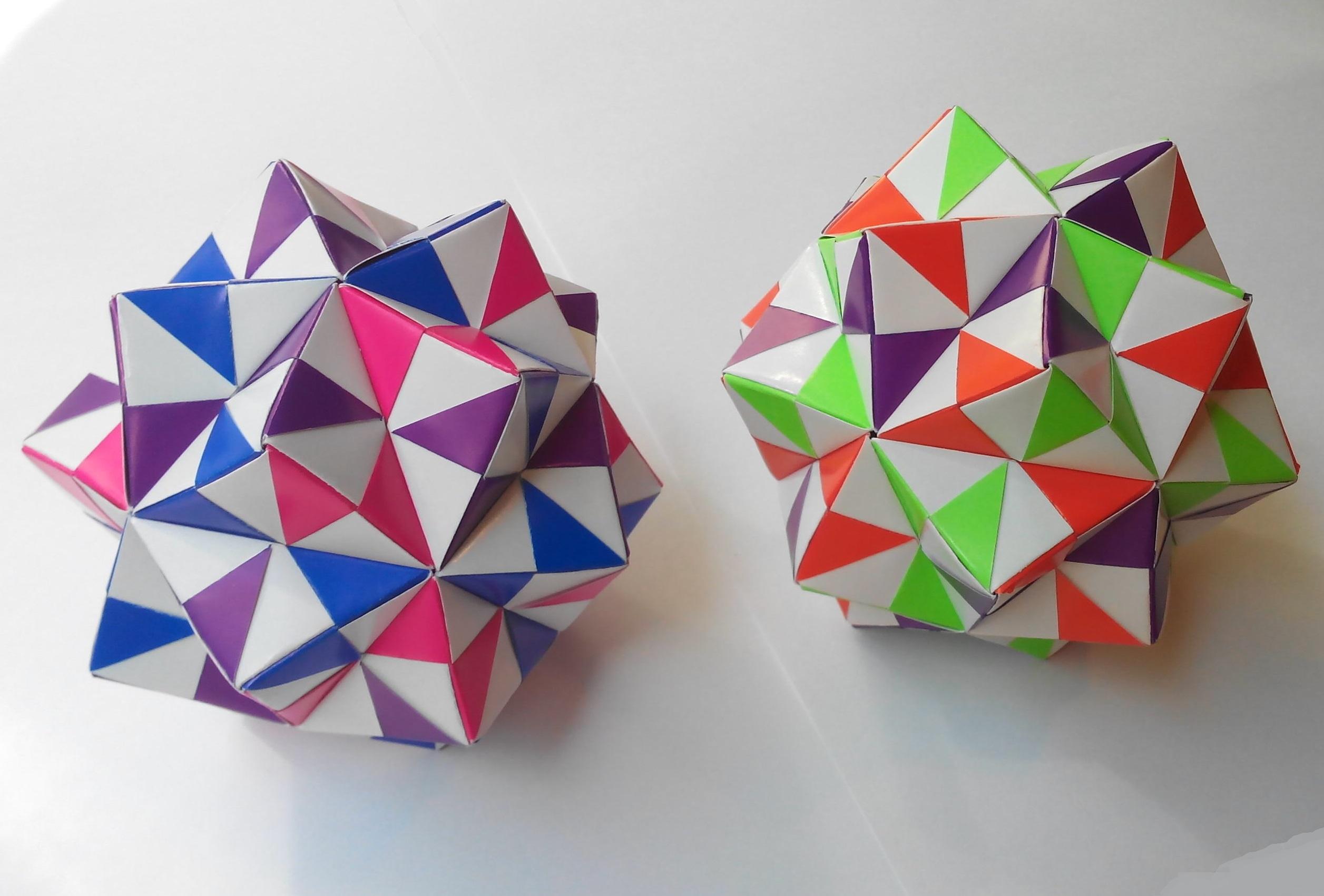 Кусудама шахматная оригами