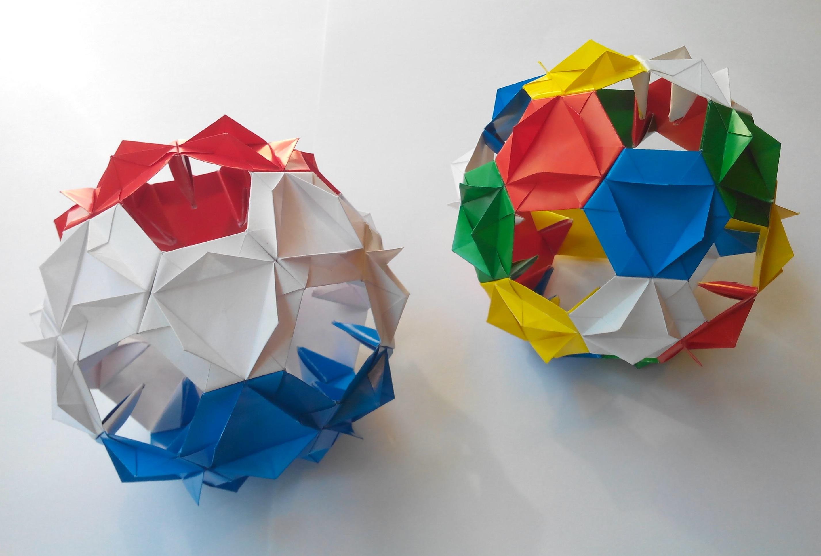 Кусудама Цветущая чайная роза оригами (Алексей Жигулёв)