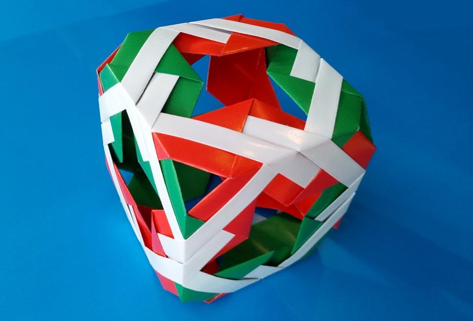 Необычный модульный кубик оригами