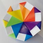 Простая вертушка оригами