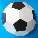Настоящий Футбольный мяч из бумаги (Mark Leonard)