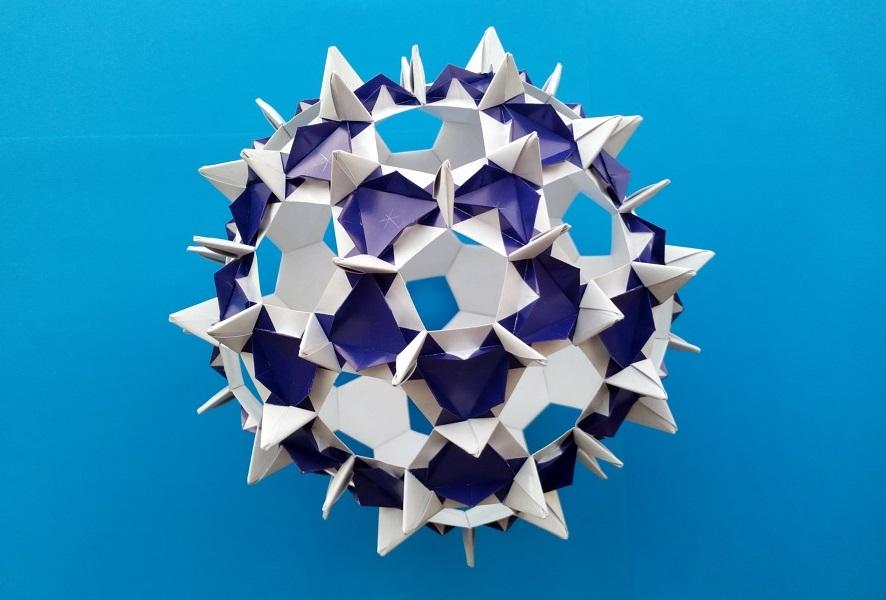 Кусудама Пушистый шар оригами (Алексей Жигулёв)