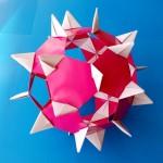 Кусудама Ёжик оригами (Алексей Жигулёв)